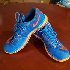 Nike KD VI Elite size 13 blue mango orange
